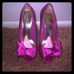 Paris Hilton Pink Bow Shoes